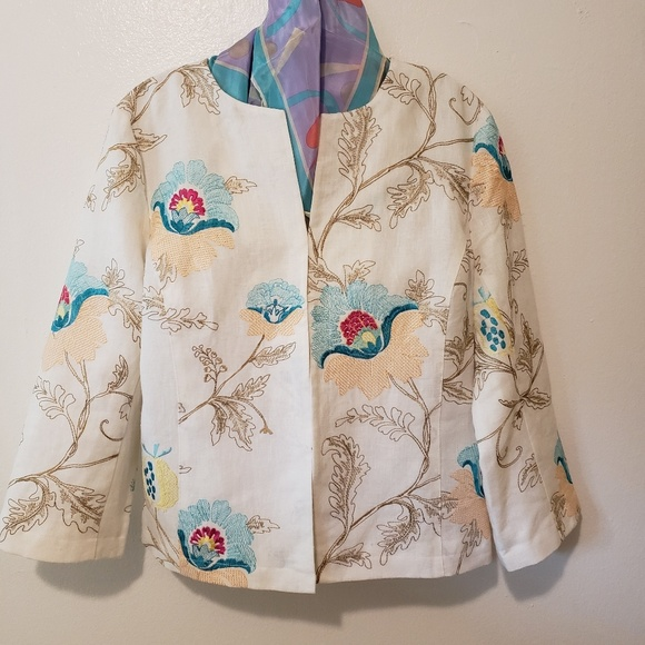Paperwhite Jackets & Blazers - Paperwhite jacket, embroidered, Size 14